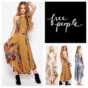 🆕Free People Seasons In The Sun Midi Dress. NWOT.