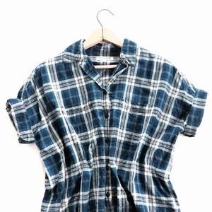 🆕 Listing! Madewell Courier shirt in blue plaid