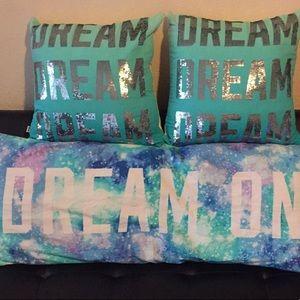 UFT PINK VS Dream On body pillow & 2throw pillows