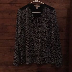 Forever 21 Black and white print blouse