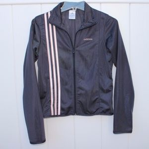 adidas Charcoal Gray & Light Pink Track Jacket