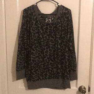 Forever 21 Cheetah Print Sweater 3XL