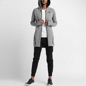 NWT($180) Nike Tech Fleece mesh cocoon hoodie long