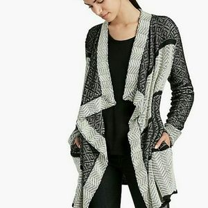 Lucky brand weave waterfall cardigan size L