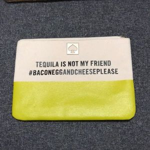 Kate Spade tequila clutch with zipper