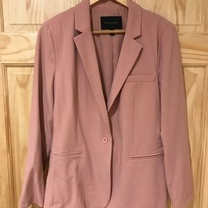 Rose-colored suit jacket