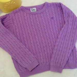 Lilly Pulitzer Palm Cable Knit Sweater Size 10