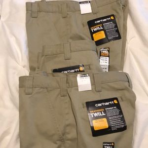 Carhartt Khaki Pants. Lot of 3