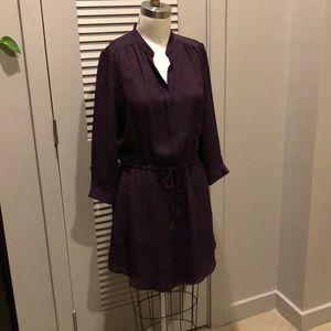 Aritzia silk printed dress