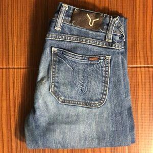 VIGOSS Skinny Straight Leg Medium Wash Jeans