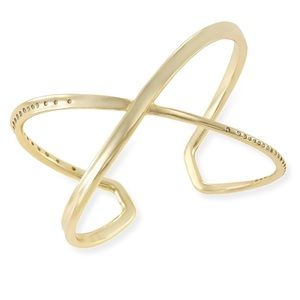 Kendra Scott Stella Bracelet Cuff Polished Gold.