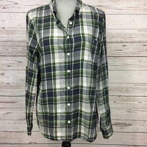 """J Crew Factory Flannel Plaid """"The Perfect Shirt"""""""