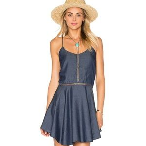 Lovers + Friends Northbound Denim Dress Medium