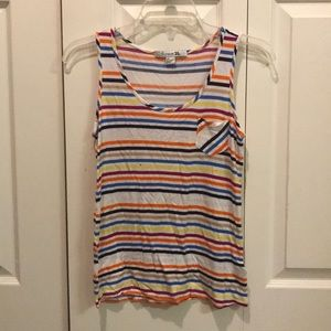 Striped Tank Top with Pocket