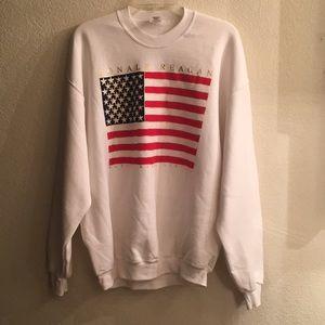 Sweaters - White American cotton crew neck sweater