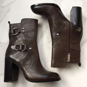 Zara dark brown leather boots