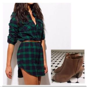 NWT Hunter Green Plaid Sz M Long Sleeve Shirt Dres