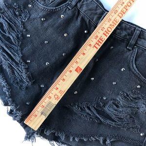 8e884efdc0 Topshop Shorts | Moto Washed Kiri Stud Mom Ripped Denim 16 | Poshmark