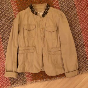 Cream colored army style jacket