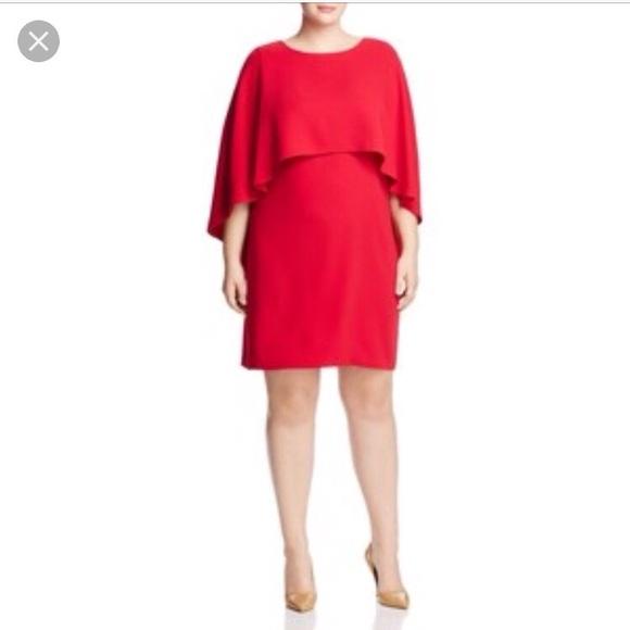 2c848dd43f4fa NWT Vince Camuto Plus Size Soufflé Dress With Cape