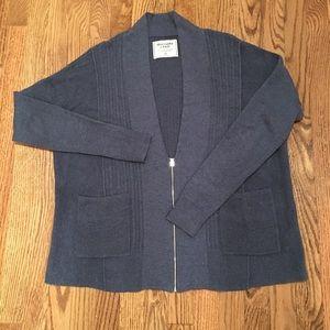 Abercrombie deep V zipper cardigan