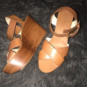 Michael Kors wooden wedges in great condition