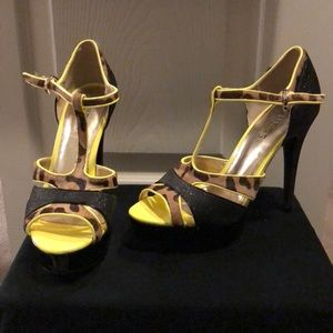 Guess cheetah heels