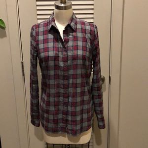 J Crew boyfriend plaid shirt