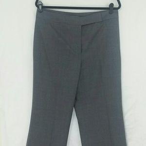 Ann Taylor Stretch Audrey Grey Trouser Pant Sz 12