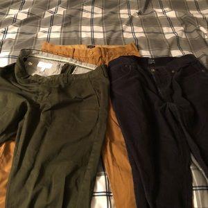 Calvin Klein & J. Crew Slim Straight Pants