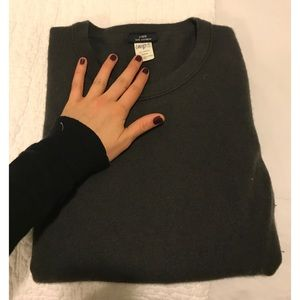 J. Crew long sleeve, black cashmere sweater