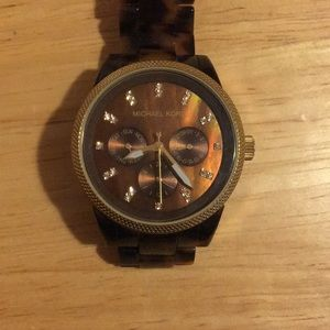 Michael Kors Brown Tortoise and Golf Face Watch