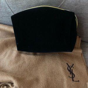 4b9c6d174b2c Yves Saint Laurent Bags - Authentic NWOT Yves YSL Black Velvet Makeup bag