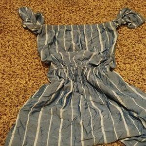 American eagle blue striped dress