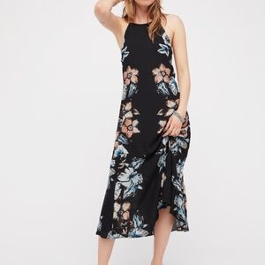 Free People Floral High Neck Maxi Dress