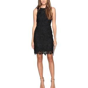 Kensie Black Bold Garden Lace Dress