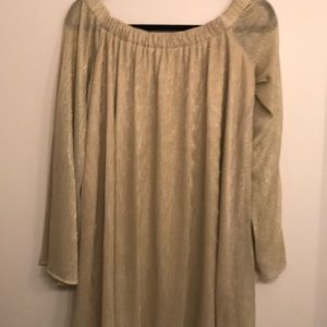 Urban Outfitters Off the Shoulder Gold Dress