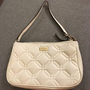 Kate spade quilted cream wristlet