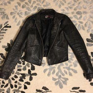 Gap 1969 Black leather jacket