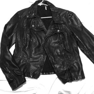 Free People Leather Jacket - worn once