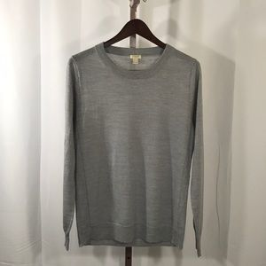 J.Crew Large Grey Crewneck Sweater