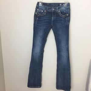 [miss me] bootcut jean size 26 embellished pockets