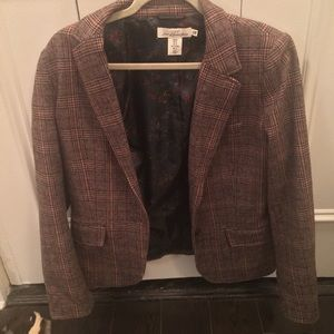Tweed-Style H&M Blazer with Patches Size 8