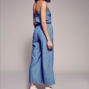 Free People Living Easy Strapless Jumpsuit