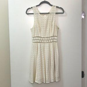 Free People cream crochet dress