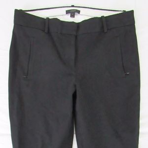 Cotton Blend Stretch Zip Pockets Capri Pants