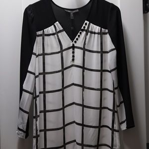 Black and White BCBG Shift Dress (or Tunic)