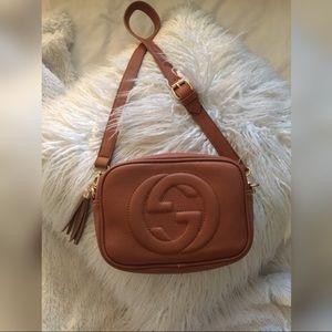 Handbags - Tan brown shoulder bag tassel purse camera