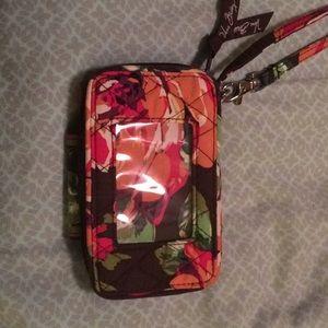 Unused Vera Bradley Phone case/wallet wristlet