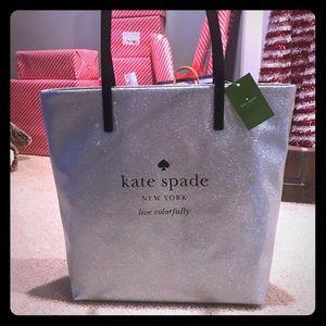 Kate Spade Bon Shopper Silver Sparkle